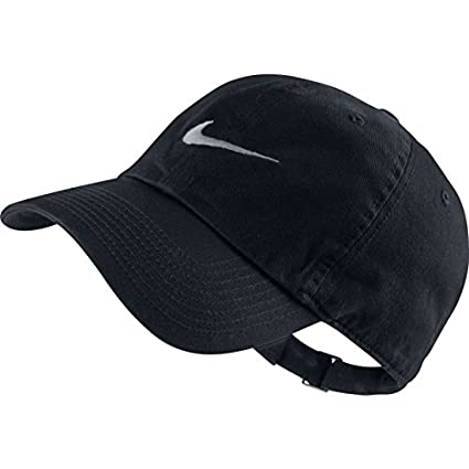 83a366b8f8aa5 Image Unavailable. Image not available for. Colour  Nike Swoosh Polyester  Cap (Black)