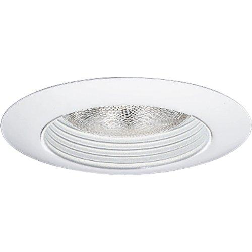 Progress Lighting P8082-28 Step Baffle Splay For Insulated Ceilings 8-3/4-Inch Outside Diameter, White