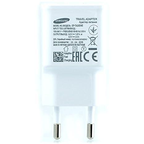 Samsung TA20 Cargador Galaxy S5 4 G Carga rápida AFC 2 A con Cable Micro USB 1,5 M Blanco