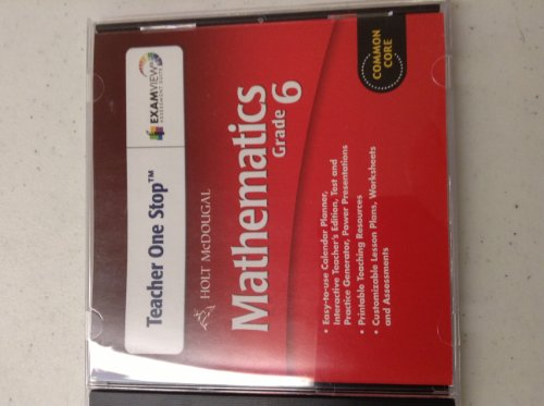 Holt McDougal Mathematics: Common Core Teacher's One-Stop Planner DVD Grade 6