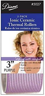Diane D5027 Self Grip Rollers Ionic Ceramic Thermal, Purple (Hot Rollers Jumbo 3 Inch)