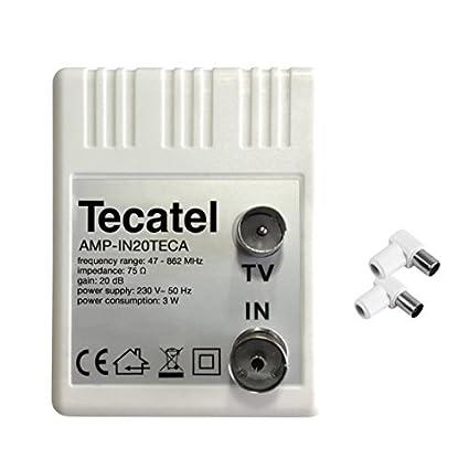 Tecatel - Amplificador interior Tecatel 20dB, 95dBuV