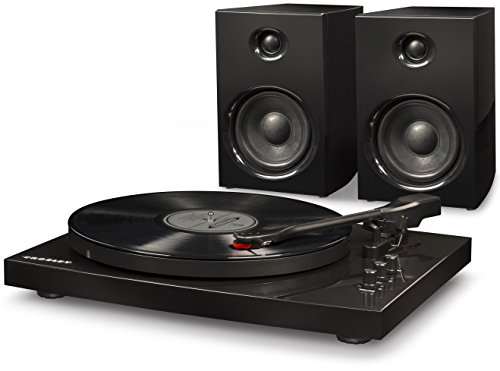 Crosley T100A-BK 2-Speed Bluetooth Turntable System with Stereo Speakers - Black from Crosley