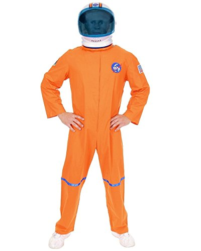 [Adult Small 36-38 Orange NASA Astronaut Space Suit Costume] (Usa Flag Dress Teen Costumes)