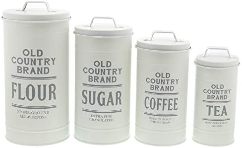 Barnyard Designs Decorative Canisters Galvanized product image