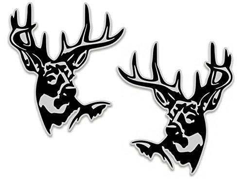Deer Buck Head Vinyl Decal 6