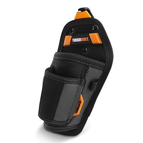 ToughBuilt TB-CT-31-A Hammer Holster, Rugged 6-Layer Construction, ClipTech Pouch Clips & Hub, Nail Puller Sleeve 2 Pockets & Loops