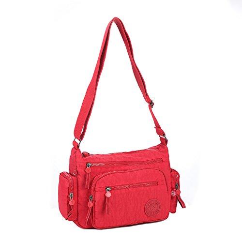 Borse Scuola Outdoor Spalla Borsello Sacchetto Rosso a Foino Messenger Sport Sportiva Impermeabile Donna Bag 3 da Viaggio Leggero Borsa Borsa Tracolla Ragazza Borse Borsetta per AqdxxTwR
