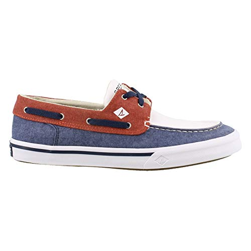 SPERRY Men's, Bahama II Boat Shoes RED White Blue 11.5 M