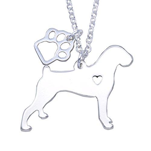Melix Animal Yorkie Labrador Pitbull Husky Alaskan Akita Boxer Corgi Dachshund German Shepherd Golden Retriever Stainless Steel Pet Dog Doggy Pendant Necklace Gift