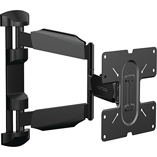 Stanley TV Wall Mount - Slim Full Motion Articulating Mount for Large Flat Panel Television - Black Mounting System Panel Flat