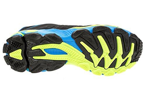 gibra - Zapatillas de running de sintético/textil para hombre schwarz/neongrün/blau