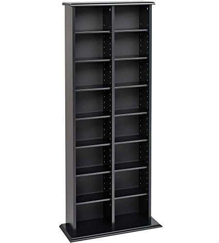 "SKB family Double Multimedia Storage Tower, 22"" x 51"" x 8.75"" x 33 lbs, Black"