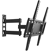 TV Wall Mount Bracket for most 26-55 Inch LED, LCD, OLED and Plasma Flat Screen TV, with Full Motion Swivel Arm, up to VESA 400x400mm and 77 LBS with Tilting