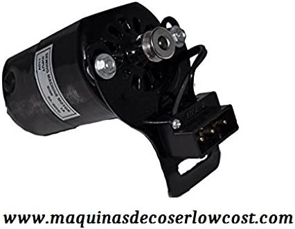 MOTOR EXTERIOR PARA MAQUINAS DE COSER COLOR NEGRO COMPLETO: Amazon ...