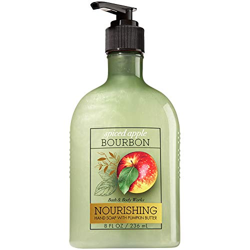 Apple Scented Body Wash - Bath & Body Works ~ Spiced Apple Bourbon ~ Nourishing Hand Soap with Pumpkin Butter ~ 8 fl oz ~ Fall 2017