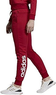 adidas W E Lin Pant Pantalón, Mujer, maract/Blanco, XS/L: Amazon ...