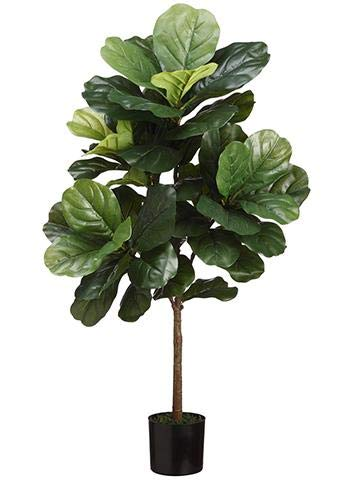 Afloral Fake Fiddle Fig Leaf Tree Potted Floor Plant   3' Tall by Afloral
