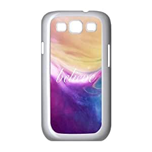 Samsung Galaxy S3 9300 Cell Phone Case White_quotes believe Jqrss