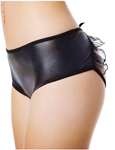e2d060c40 J-boxing Plus Size Crotchless Panties Women Open Croth Panties Faux Leather  Underwear (XL