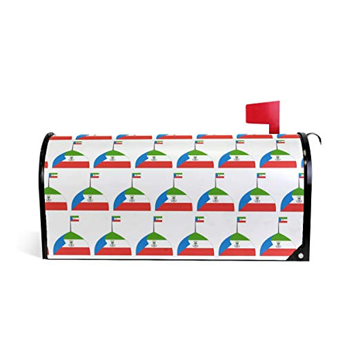 Grapefruit Boy Equatorial Guinea Logo Flag Magnetic Mailbox Cover Oversized-20.8