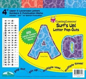 Barker Creek 4 Poster Letters /& Bulletin Board Letter Pop-Outs Surfs Up! LL-1715
