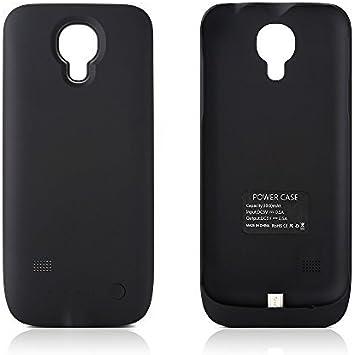 ZOGIN para Samsung Galaxy S4 Mini i9190 3000mAh Funda de Batería Externa / Funda Protectora Cargador / Funda de Batería Integrada Recargable de Alta Capacidad con Soporte de Móvil Plegable, Color Negro: