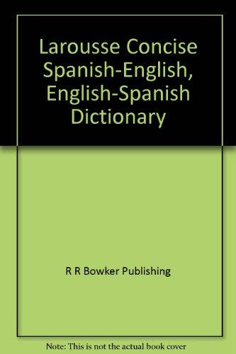2034304004 - R R Bowker Publishing: Larousse Diccionario Manual: Espanol-Ingles, Ingles-Espanol - Libro