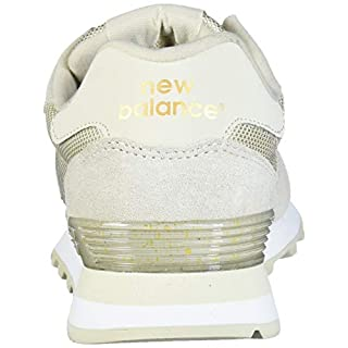 New Balance Women's 515 V1 Sneaker, Oyster/Gold Metallic, 5 W US