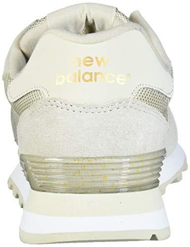 New Balance Women's 515 V1 Sneaker, Oyster/Gold Metallic, 5 W US
