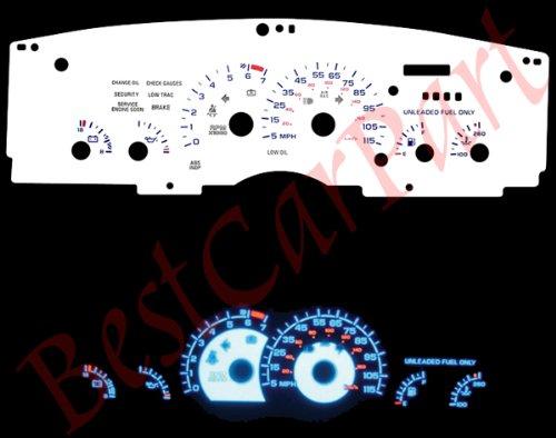93-96 Chevy Camaro V6 115mph White Reverse Glow Gauges