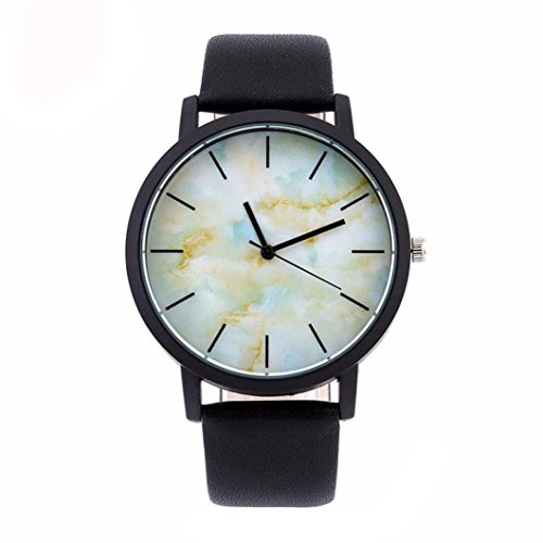 Round Wrist Watch - Becoler Military Sport Leather Band Round Dial Wrist Watch