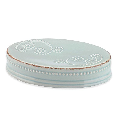 Lenox French Perle Groove Ice Blue Soap Dish