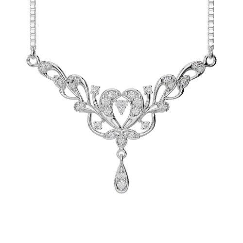 Or blanc/or jaune/Platine Diamant Collier avec chaîne ims-482-vsgh