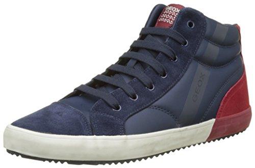 Geox Unisex Volwassen J Alonisso Jongen Een Hoge Sneaker Blauw (marine / Dk Red)