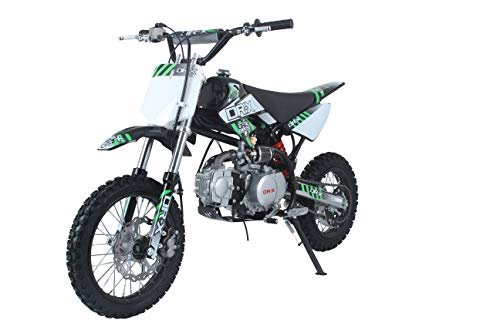 DR-X 125CC Dirt Bike - Pit Bike for Teenagers and Adults (Black-Green) ()