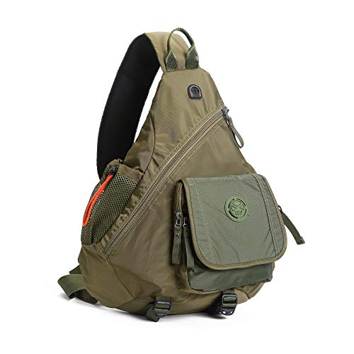 DDDH Large Rope Sling Bag Crossbody Backpack for Women & Men Fits 13.3-14.1 Inch Laptop Army Green ()