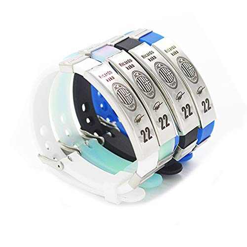 FANwenfeng Football Ricardo Kaka Inspirational Signature Adjustable Wristbands Number 22 Sport Silicone Bracelet 4 - Real Madrid Kaka