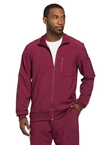 - Cherokee Infinity CK305A Men's Zip Front Warm-Up Jacket Wine M