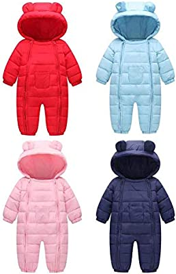 d903806aa5c1d newborn baby boy girl winter jumpsuit hooded rompers warm clothes ...