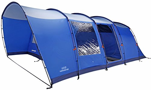 Vango 6 Person Tunnel Farnham 600 Tent, Blue