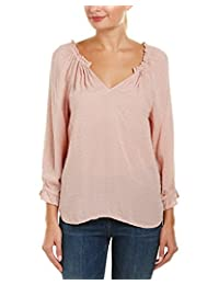Velvet Womens Dotted Long Sleeves Casual Top