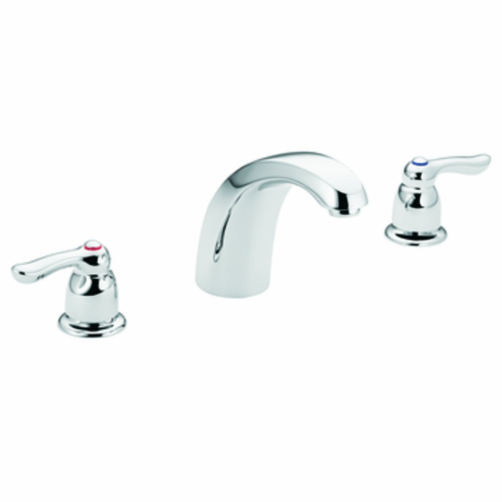 Moen T994 Chateau Two-Handle Low Arc Roman Tub Faucet without Valve, Chrome