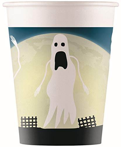 Procos 90974 Halloween Party Cups, Pack of 8, Black, Blue, Beige -