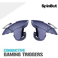 SpinBot BattleMods Conductive Mobile Gaming Triggers for PUBG - Supports for All Android and iOS Phones-1 Pair-(Midnight Blue)