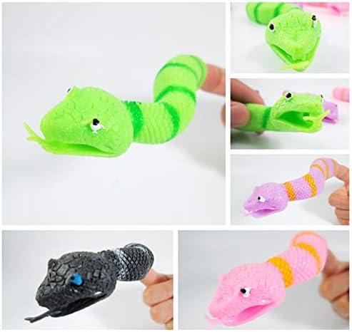 [해외]AKDSteel 1Pc Kids Mini Prank Toy Snake Shape Finger Puppet for Story Telling Props Fun Gifts for Kids / AKDSteel 1Pc Kids Mini Prank Toy Snake Shape Finger Puppet for Story Telling Props Fun Gifts for Kids