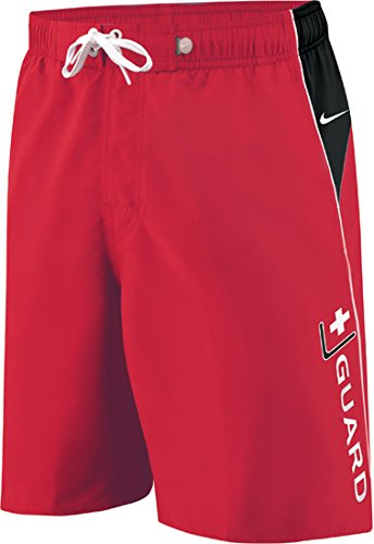 Lifeguard Costumes Shorts (Nike Guard Volley Short Male Varsity Red Large)