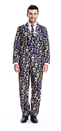 Cleaner Dress Costume Fancy (YOU LOOK UGLY TODAY Mens Halloween Party Suit Scary Halloween Costume for Trick or Treat Halloween)
