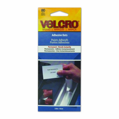 VELCRO Brand - Adhesive Dots Permanent, 80 Ct. - Clear