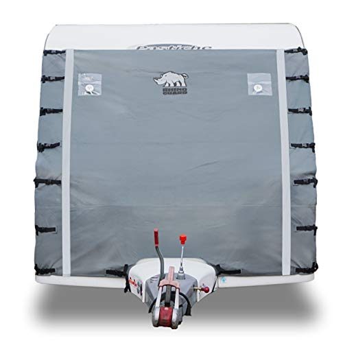 Rhino Guard Caravan Towing Cover Protector Universal Light Grey